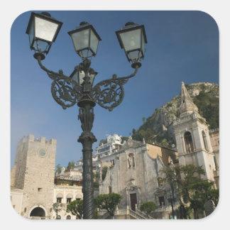 ITALY, Sicily, TAORMINA: Piazza iX Aprile, San Square Sticker