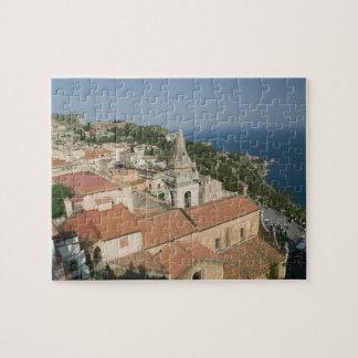 ITALY, Sicily, TAORMINA: View towards Piazza IX Jigsaw Puzzle