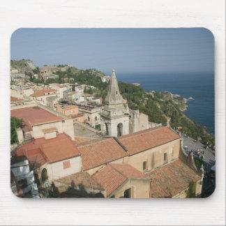 ITALY, Sicily, TAORMINA: View towards Piazza IX Mouse Mat
