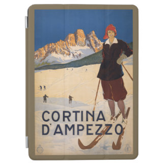Italy Skiing vintage travel device covers iPad Air Cover