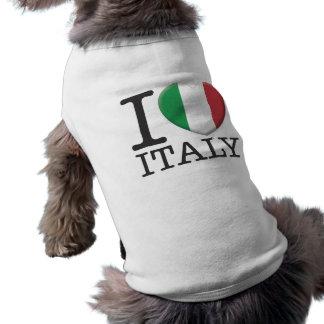 Italy Sleeveless Dog Shirt