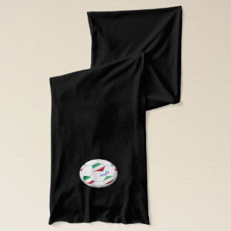 ITALY SOCCER ball and flag of the national team Scarf