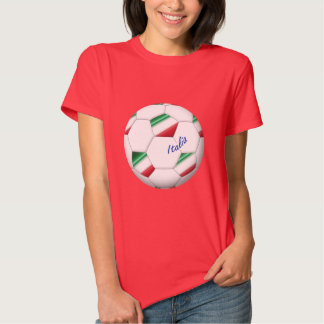 ITALY SOCCER ball and flag of the national team Tee Shirt