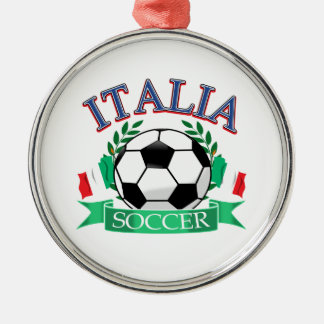 Italy soccer ball designs christmas ornament