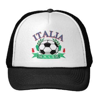 Italy soccer ball designs mesh hat