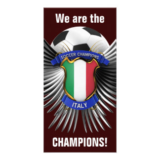 Italy Soccer Champions Personalized Photo Card