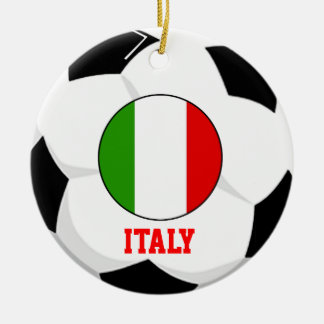 Italy Soccer Fan Ornament 4 Times World Cup Champs