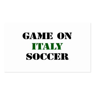 Italy Soccer Pack Of Standard Business Cards