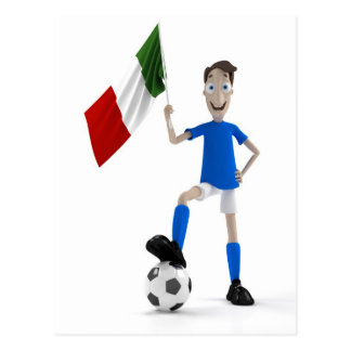 Italy soccer post cards