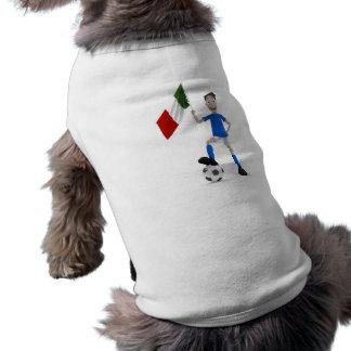 Italy soccer sleeveless dog shirt