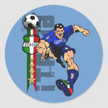 Italy Soccer T-shirts and gifts ideas Round Sticker