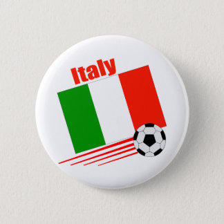 Italy Soccer Team 6 Cm Round Badge