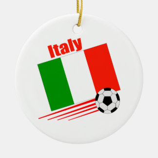 Italy Soccer Team Christmas Ornament