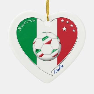 """ITALY"" Soccer Team. Italian selection of Soccer Ceramic Heart Decoration"