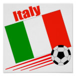 Italy Soccer Team Poster