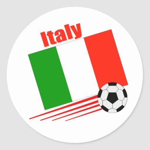 Italy Soccer Team Round Sticker