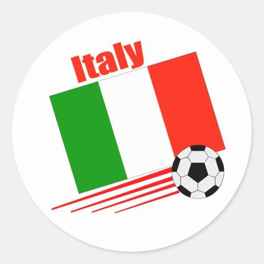 Italy Soccer Team Round Sticker