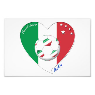 """Italy Soccer Team. Soccer of """"ITALY"""" 2014 Photographic Print"""