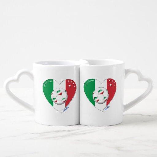 "Italy Soccer Team. Soccer of ""ITALY"" 2014 Lovers Mug Sets"