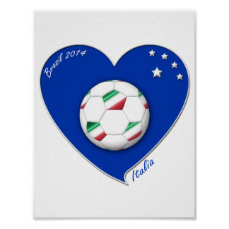 "Italy Soccer Team. Soccer of ""ITALY"" 2014 Poster"