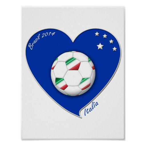 "Italy Soccer Team. Soccer of ""ITALY"" 2014 Poster"