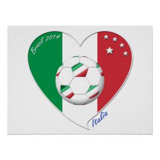 """Italy Soccer Team. Soccer of """"ITALY"""" 2014 Posters"""