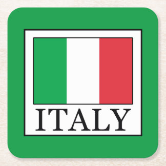 Italy Square Paper Coaster