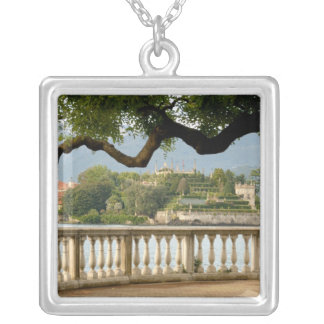 Italy, Stresa, Lake Maggiore, Isola Bella Silver Plated Necklace