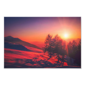 italy sunrise picture photo print
