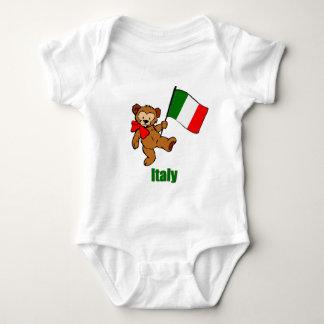 Italy Teddy Bear Baby Bodysuit