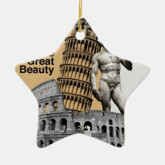 Italy, The Great Beauty Ceramic Star Decoration
