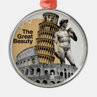 Italy, The Great Beauty Silver-Colored Round Decoration