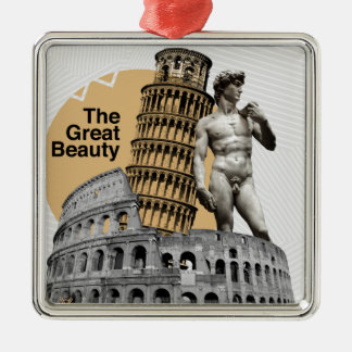 Italy, The Great Beauty Silver-Colored Square Decoration