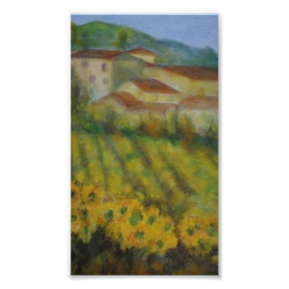 Italy/Tuscan countryside poster