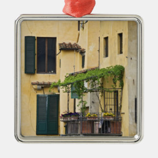 Italy, Tuscany, Florence. Balcony and Christmas Ornament