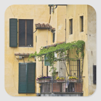 Italy, Tuscany, Florence. Balcony and Square Sticker