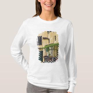 Italy, Tuscany, Florence. Balcony and T-Shirt