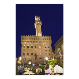 Italy, Tuscany, Florence. Nighttime dining Photo Print