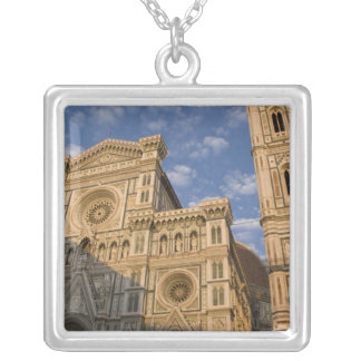 Italy, Tuscany, Florence. The Duomo. Silver Plated Necklace