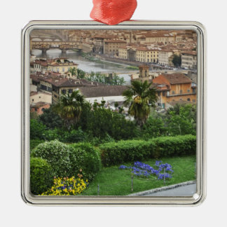Italy, Tuscany, Florence. View of city from Christmas Ornament