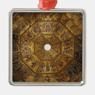 Italy,Tuscany,Florence,Wideangle view of The Silver-Colored Square Decoration