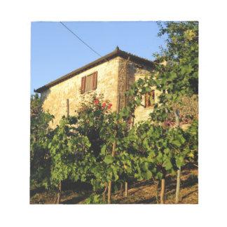 Italy, Tuscany, Greve. Late summer wine scenes Notepad