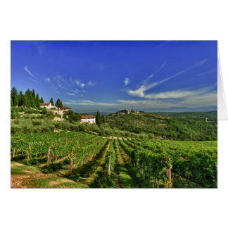 Italy, Tuscany, Greve. The vineyards of Castello Card