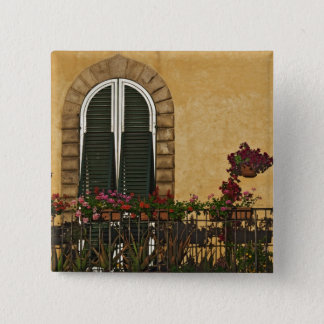 Italy, Tuscany, Lucca. Balcony decorated with 15 Cm Square Badge
