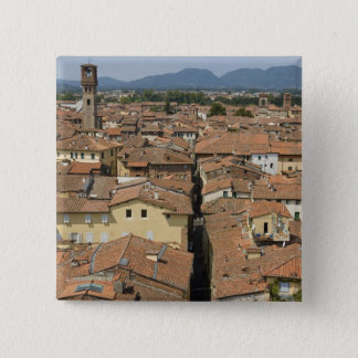 Italy, Tuscany, Lucca, View of the town and 15 Cm Square Badge