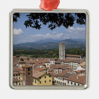 Italy, Tuscany, Lucca, View of the town and 4 Christmas Ornament