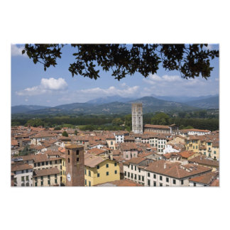 Italy, Tuscany, Lucca, View of the town and 4 Photo Print