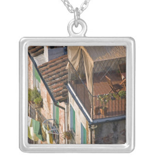 Italy, Tuscany, Lucca, View of the town and 5 Silver Plated Necklace