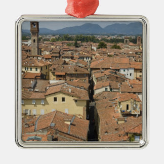 Italy, Tuscany, Lucca, View of the town and Christmas Ornament