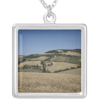 Italy. Tuscany. Montichiello Silver Plated Necklace